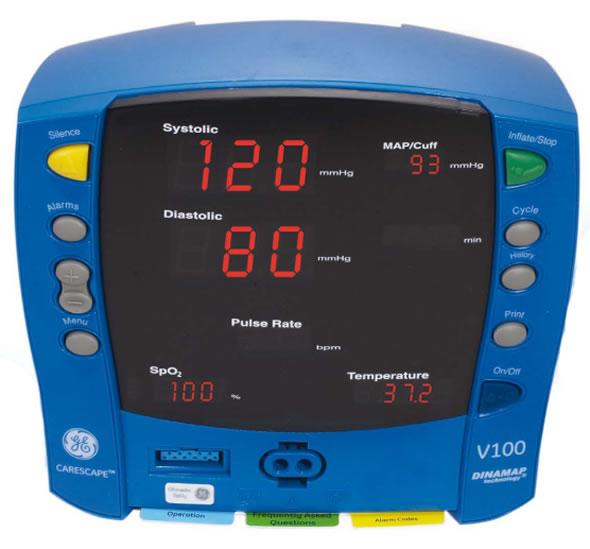V100 with Alaris Temperature Probe